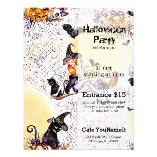 Halloween Witch 21.5 Cm X 28 Cm Flyer
