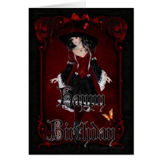 Halloween Witch 8 October Happy Birthday Card