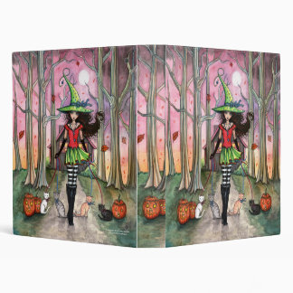 Halloween Witch and Cats Binder