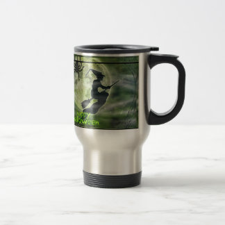 Halloween Witch and Spider Stainless Steel Travel Mug
