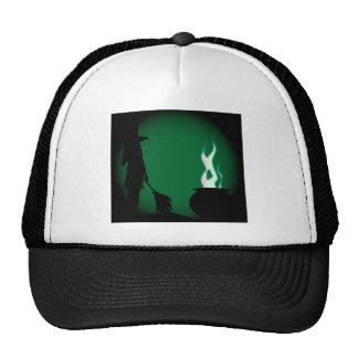 Halloween Witch Background Cap