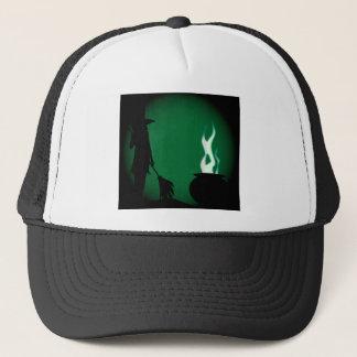 Halloween Witch Background Trucker Hat