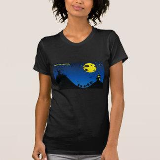 Halloween Witch, Bats, House / T-Shirt