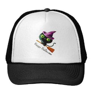 Halloween Witch Black Cat Cap
