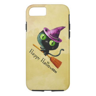Halloween Witch Black Cat iPhone 8/7 Case