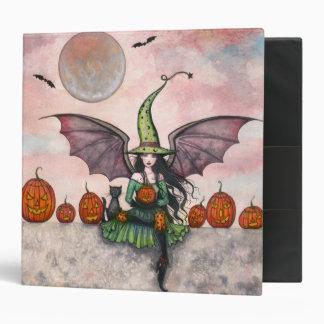 Halloween Witch Cat Avery Binder
