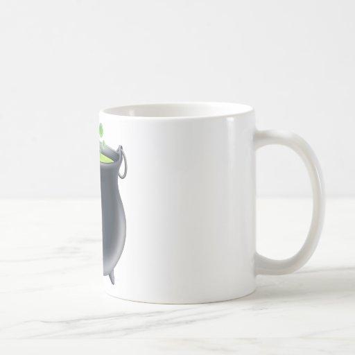Halloween witch cauldron mugs