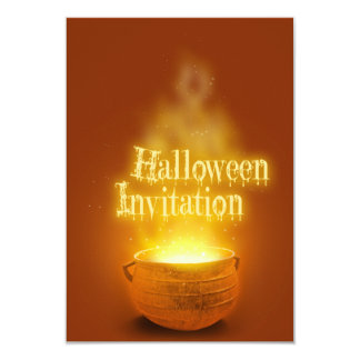 Halloween Witch Cauldron - Party Invitation