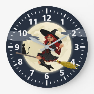 Halloween Witch Clock