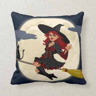 Halloween Witch Throw Pillows