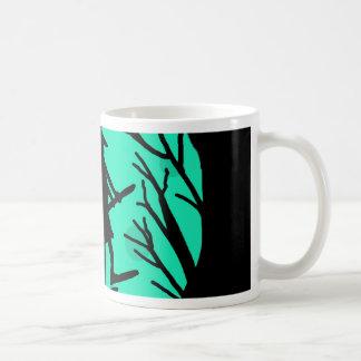 Halloween witch - cyan moon basic white mug