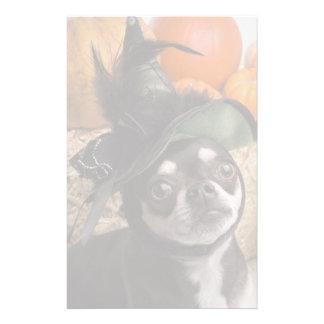 Halloween Witch Dog Stationery Design