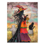 """Halloween Witch Fantasy Art by Molly Harrison"""" Post Cards"""