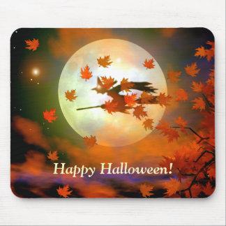 Halloween Witch Flight Mouse Mat