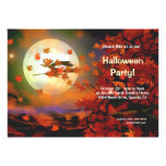 Halloween Witch Flight Personalized Invitations