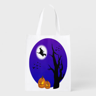 Halloween Witch Flying Through The Trees