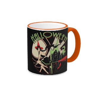 Halloween Witch Flying (vintage) Ringer Mug