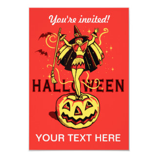 Halloween Witch Girl (vintage) Card
