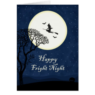 Halloween Witch - Happy Fright Night Note Card