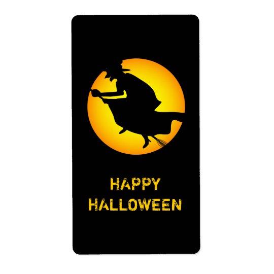 Halloween Witch Happy Halloween Label