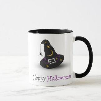 Halloween Witch Hat with Spider - Mug