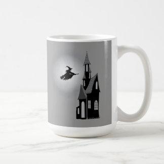 Halloween Witch & Haunted House Mug