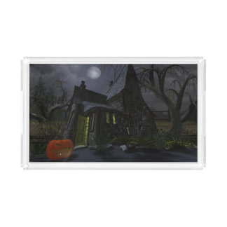 Halloween Witch House Acrylic Tray