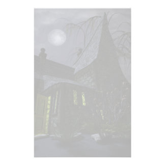 Halloween Witch House Stationery