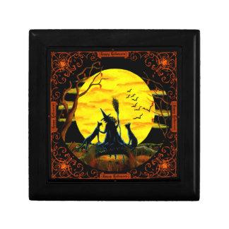 Halloween witch jewelry box