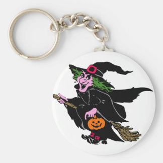 Halloween Witch Key Ring