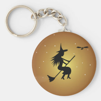 Halloween Witch Key Ring Basic Round Button Key Ring