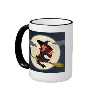 Halloween Witch Ringer Mug