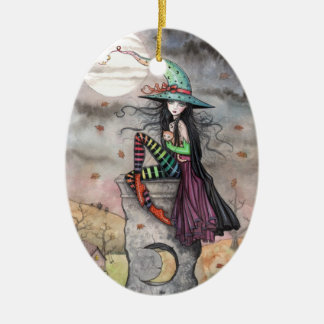 Halloween Witch Ornament Enchanted October