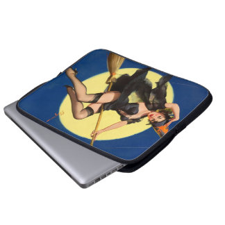 Halloween Witch Pin Up Girl Laptop Sleeves