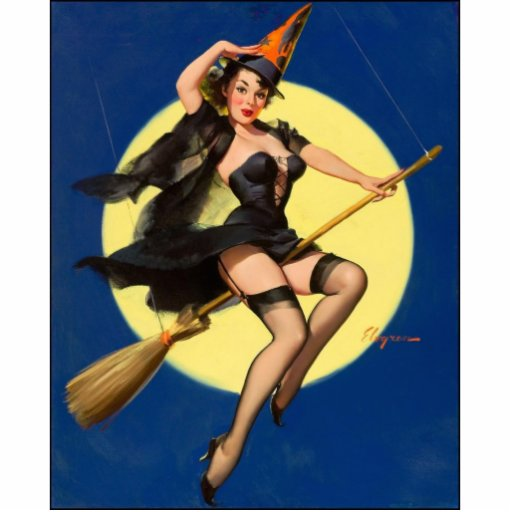 Halloween Witch Pin Up Girl Acrylic Cut Outs