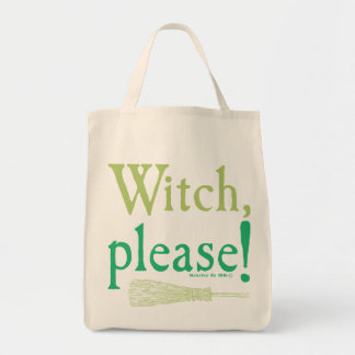 Halloween Witch Please Broom Tote Bag