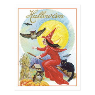 Halloween Witch Postcard