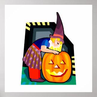 Halloween witch print