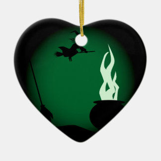 Halloween Witch Poster Background Christmas Ornament