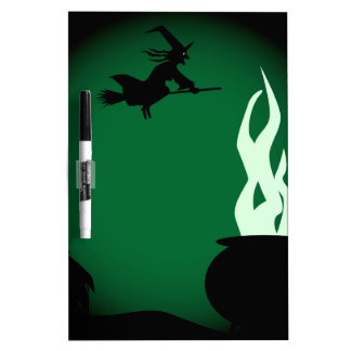 Halloween Witch Poster Background Dry Erase Whiteboard