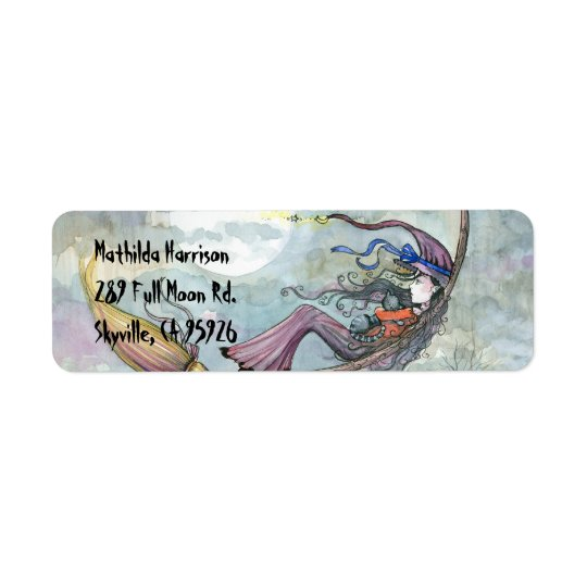 Halloween Witch Return Address Labels
