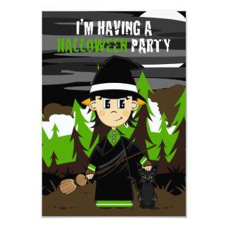 Halloween Witch RSVP Card 9 Cm X 13 Cm Invitation Card