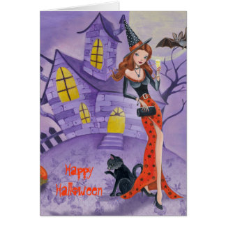 Halloween Witch - Seasonal greeting card