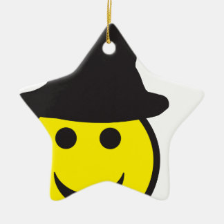 Halloween Witch Smiley Christmas Ornament