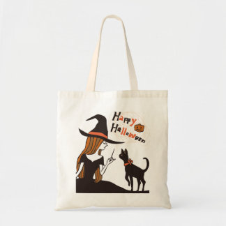 halloween (witch) tote bag