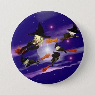 Halloween Witch Traffic 7.5 Cm Round Badge