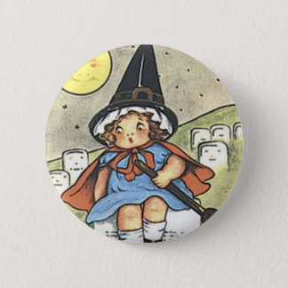 Halloween Witch Vintage Holiday Button