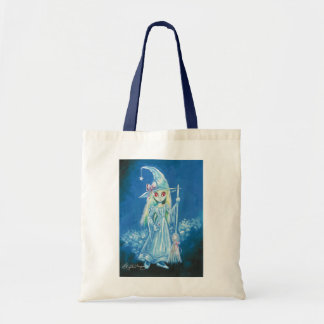 Halloween Witch With Big Red Eyes Canvas Bags