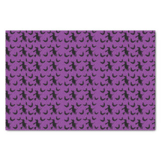 Halloween Witch With Broom Party Tissue Paper