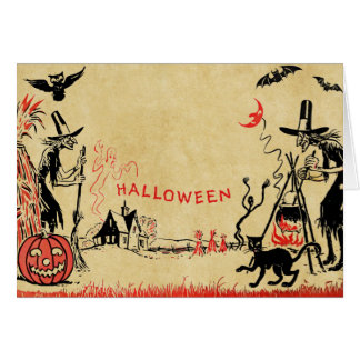 Halloween Witches Card